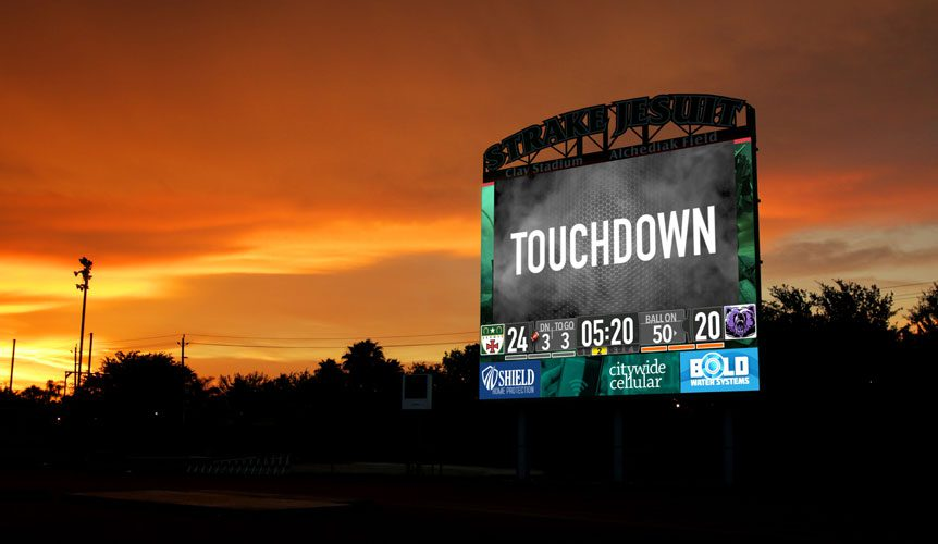 How A Jumbotron Transforms Your High School Stadium Into A Professional Arena Afca Insider