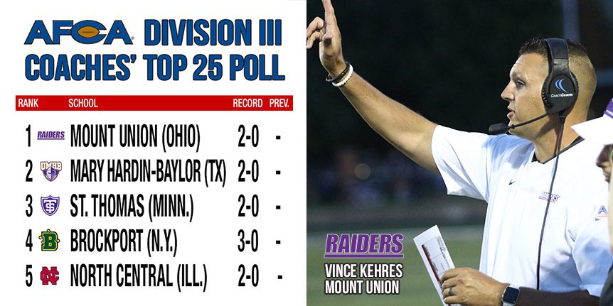 D3 Coaches Poll - Mount Union - Artic