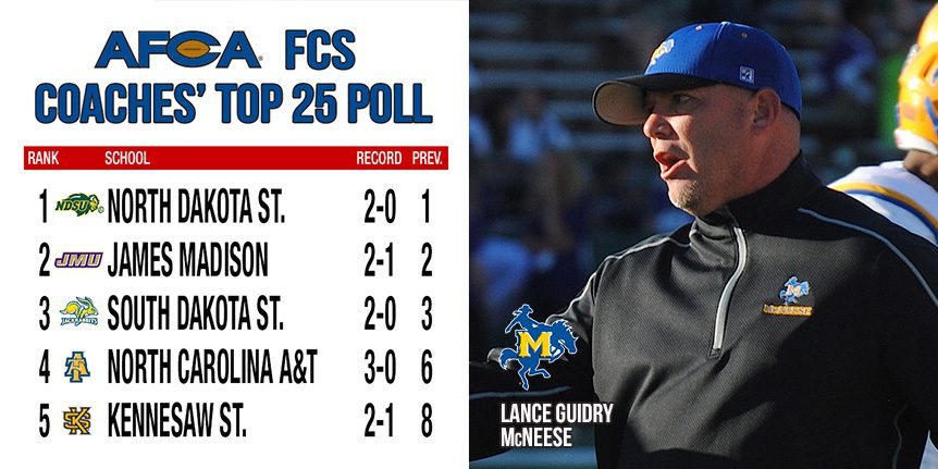 FCS Coaches Poll - McNeese - WP