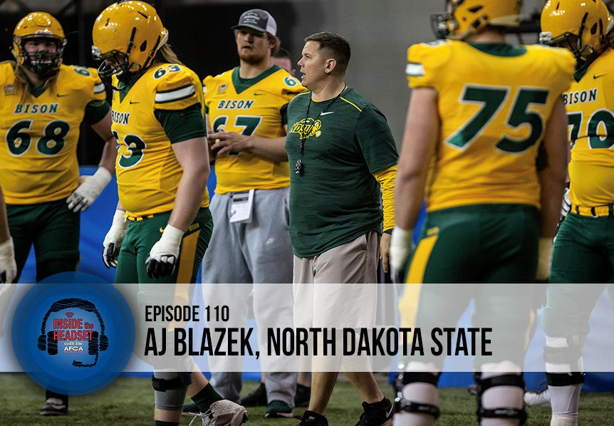 Inside The Headset: - AJ Blazek - North Dakota State - WP