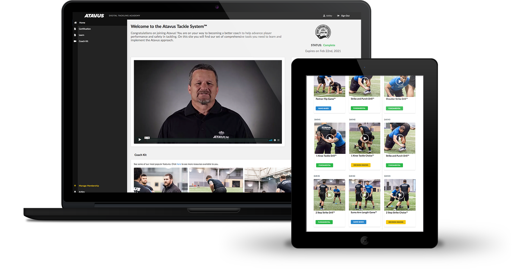 Atavus offers coaches the tools they need to improve tackling.